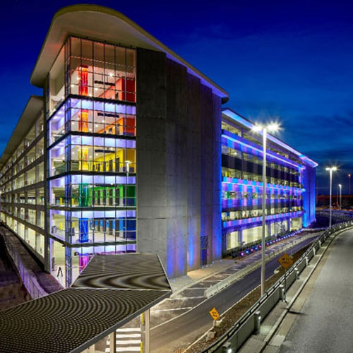Garage A with parking technology at Nashville Airport